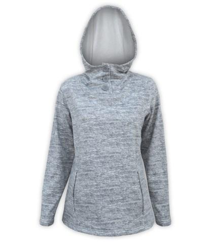 renegade ultra soft brushed fleece hoodie pullover, gray buttons, fleece jacket pockets