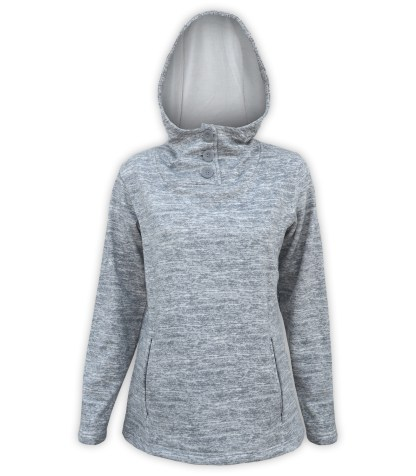 renegade ultra soft brushed fleece hoodie pullover, gray buttons, fleece jacket pockets