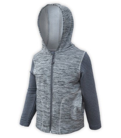 Renegade club kids club jacket, power stretch fleece, 3d fleece sleeves, gray, full zipper, hood, wholesale kids fleece