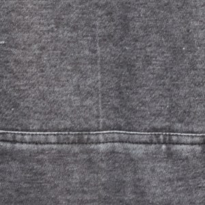burnout fleece swatch gray, black, renegade signature fleece fabric, washed