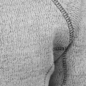 nantucket fleece swatch, renegade signature fabric, gray, white, fleece stitching, soft fleece
