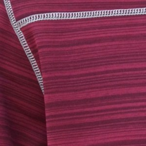 power stretch fleece swatch, renegade signature fabric, stripes, red