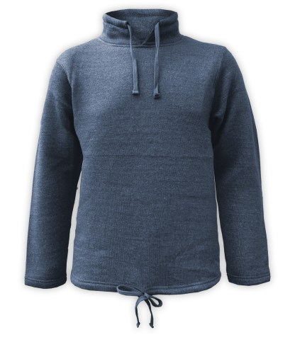 Renegade Club mens nantucket Fleece tunnel sweatshirt, full chest embroidery wholesale blue