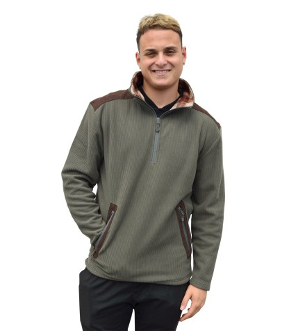 Renegade club fleece half zip pullover, wholesale blanks for embroidery brand, corduroy, plaid, olive, brown