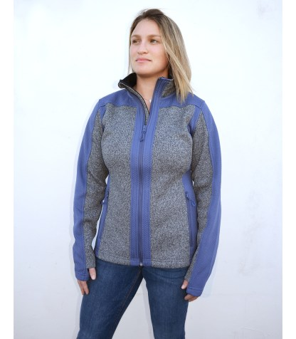 women light coarse weave and embossed fleece blue jacket for embroidery wholesale blank