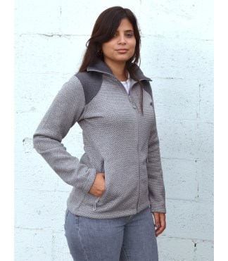 womens honeycomb fleece full zip sweater wholesale blank for embroidery renegade club pockets