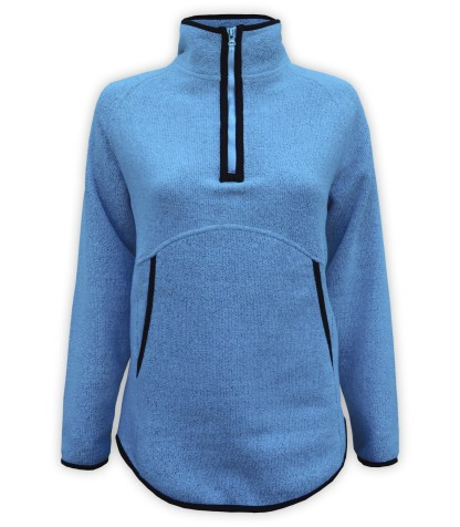 nantucket quarter zip, renegade blanks for embroidery pockets wholesale blue