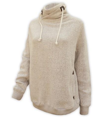 cream renegade nantucket fleece collar sweatshirt, wholesale blanks for embroidery