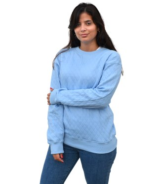 womens quilted resort crewneck, blanks for embroidery renegade club
