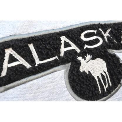 sherpa fluffy applique wholesale emrbroidery blanks black moose alaska