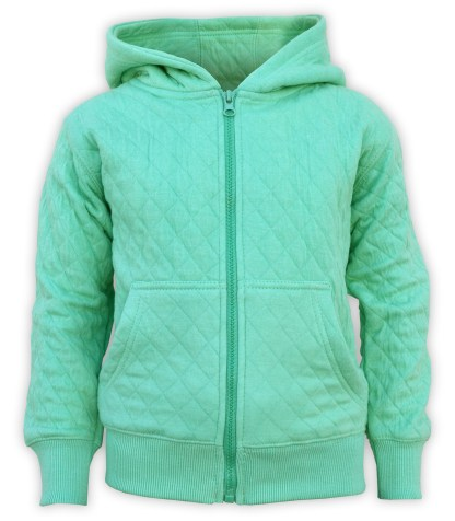 kids quilted fleece green jacket, wholesale blanks for embroidery renegade club style