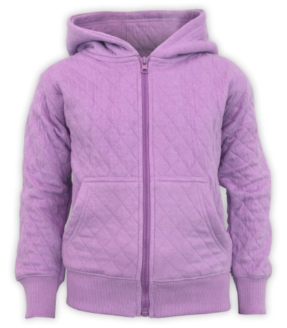 kids quilted fleece purple jacket, wholesale blanks for embroidery renegade club style