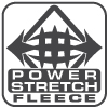 stretch grid arrows black and white logo, renegade fabric fleece