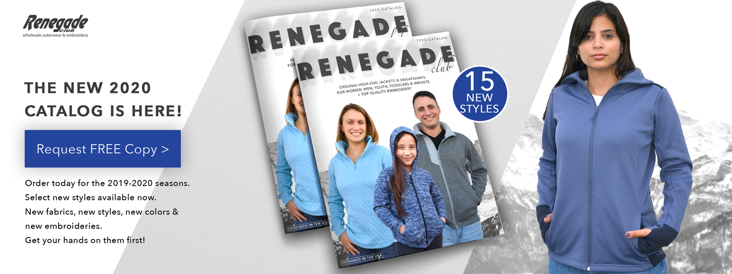 womens mens kids renegade club new 2020 catalog request free copy banner blue jacket
