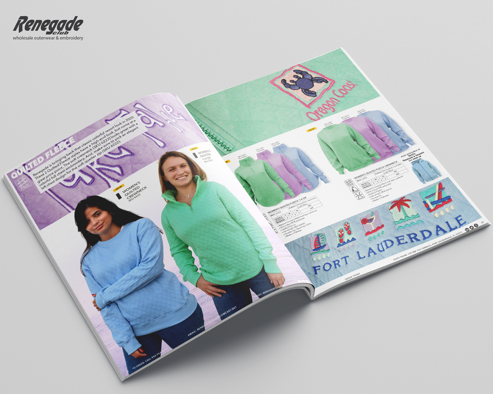 2020 renegade catalog mockup pages womens sweatshirts resort wholesale blanks embroidery