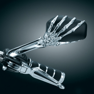 Kuryakyn Skeleton Hand Motorcycle Mirror