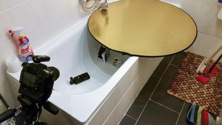Produktfotografie in der Badewanne