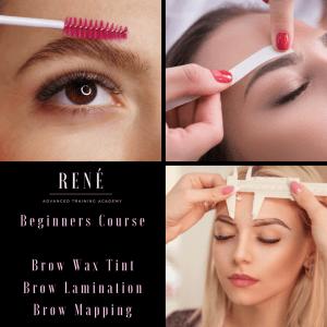 Beginner brow lamination brow wax tint training