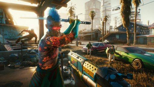 In Night City begegnet Ihr verrükten Gestalten! (Bild: Namco Bandai/CD Projekt Red)