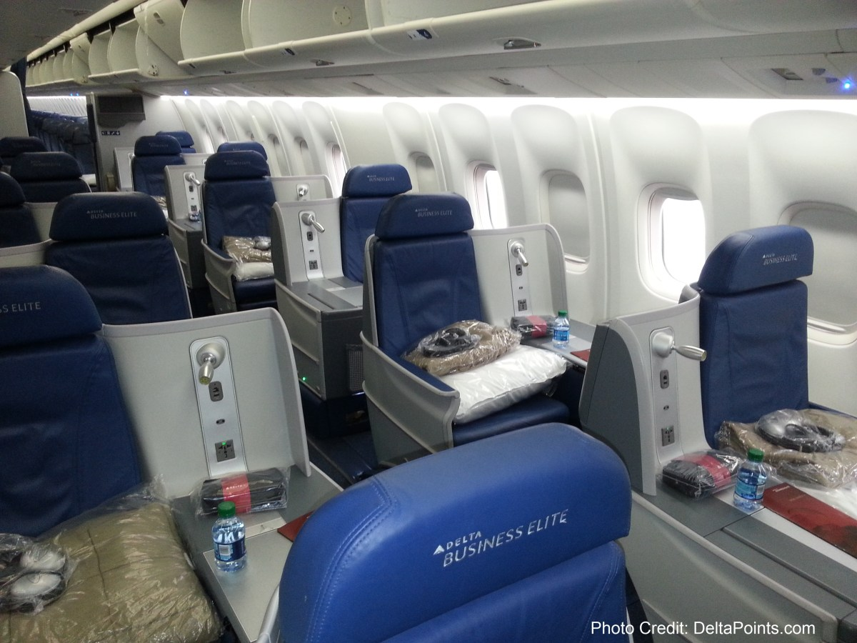 Delta 767 300 New Business Class Seats Delta Points Blog Review 4 Ren S Pointsren S Points
