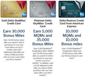 big 3 delta amex cards