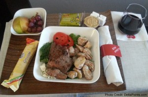 cold steak lunch on delta air lines