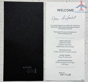 DeltaONE pre-flight meal in Delta Sky Club RenesPoints blog (1)
