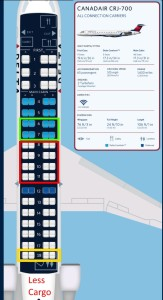 adjusted seating on Delta CRJ700 according to Delta PR info