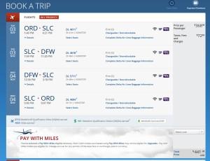 delta-com ord to dfw 1st