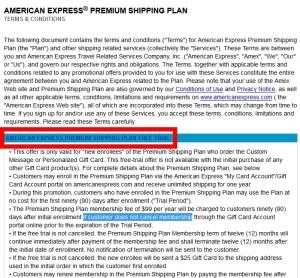 amex free shipping plan