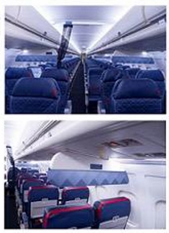 new delta 1st class and comfort plus overhead dividers