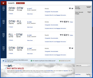 Detroit to Fort Lauderdale First Class Delta December 2015