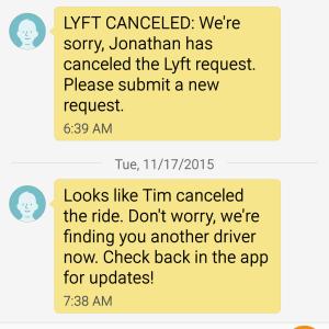 lyft keeps canceling my rides