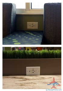 power outlets everywhere in the new MSP Escaple Lounge renes points blog reveiw