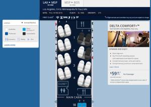 LAX-BOS SeatMap