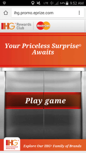 Priceless Surprises, from IHG Rewards Club and MasterCard game renespoints blog (1)