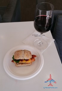 delta sky club BBQ chicken and chedar sandwich