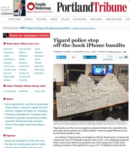 iphones from stolen gift cards from Portland Tribune - com