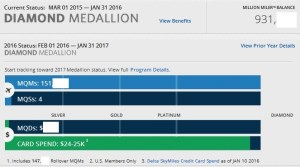 my delta medallion status and rolloever mqms