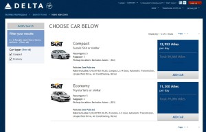 rent a car with skymiles