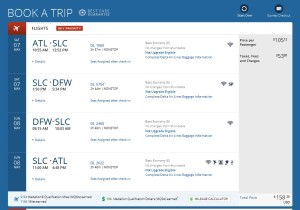 delta-com atl to slc to dfw weekend delta mileage run 1