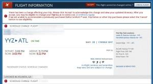 delta mainline schedule change saturday 2