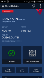 Use Fly Delta APP to track inbound airplane and arrival gate and time renespoints blog (1)