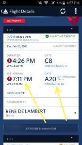 Use Fly Delta APP to track inbound airplane and arrival gate and time renespoints blog (6)