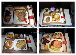 examples of Delta 1st class meals breakfast lunch and dinner renespoints blog