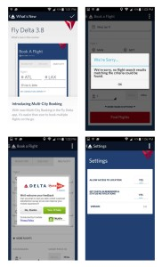 fly delta app 3-8 upgrade adds multi city booking tool that does not work