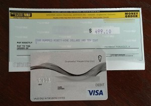 money order from onevanilla debit gift card