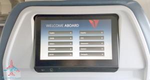 tilt screen ife delta 757-200 slim line 1st class seats renespoints blog