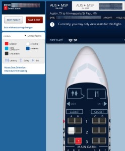 an example of being able to select a 1st class seat when your RU or GU cert has cleared delta renespoints blog