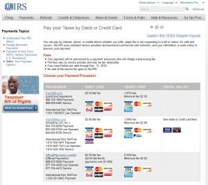 pay your taxes with a credit card to get points